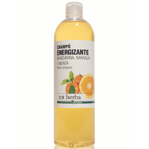 champú energizante mandarina y naranja tot herba